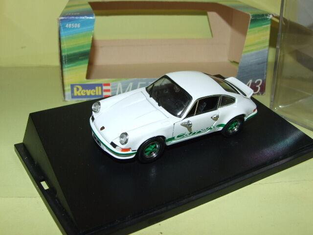 PORSCHE PORSCHE PORSCHE 911 CARRERA RS 1973 white & green REVELL 62900d