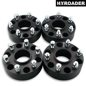 2pc 6x5.5 Hubcentric Wheel Spacers 2 Inch 14x1.5 Studs for 1995-2017 Chevy Tahoe