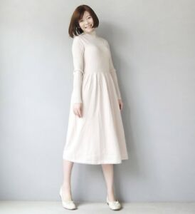 5a82e561d NWT Uniqlo Women U 3D Merino Ribbed Mock Neck Long Sleeve Knit Dress ...
