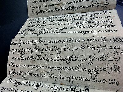 ANCIEN MANUSCRIT BIRMAN BURMA BOOK