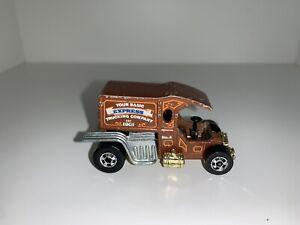 Rare-Vint-1976-Hot-Wheels-T-totaller-Mattel-Hong-Kong-039-su-Basic-Express-039-s-Esmalte-Camion