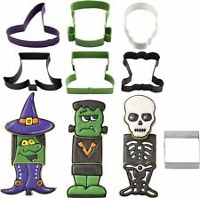 Wilton Halloween 7 Piece Biscuit Pastry Cookie Cutters Monster Witch Skeleton