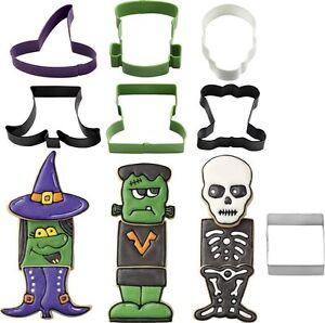 Wilton-Halloween-7-Pezzi-Biscotto-Pasticceria-Stampi-Per-Biscotti-Monster-Strega