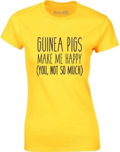 Guinea-Pigs-Make-Me-Happy-Slogan-Ladies-Printed-T-Shirt-Summer-Tee-for-Womens