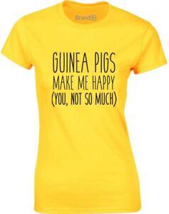 Guinea-Pigs-Make-Me-Happy-Slogan-Ladies-Printed-T-Shirt-Summer-Tee-for-Womens