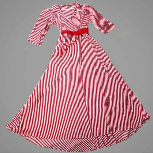 Striped 1940s Wrapper AS IS Dress Wrap Rockabilly