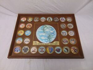 1972-NASA-Space-Plaque-Model-Apollo-Gemini-Mercury-1961-72-20-034-x-15-Space-Flight