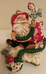 Fire-Department-Santa-Claus-Hose-and-Dalmatian-Figurine-6-034-Tall-Resin-Christmas