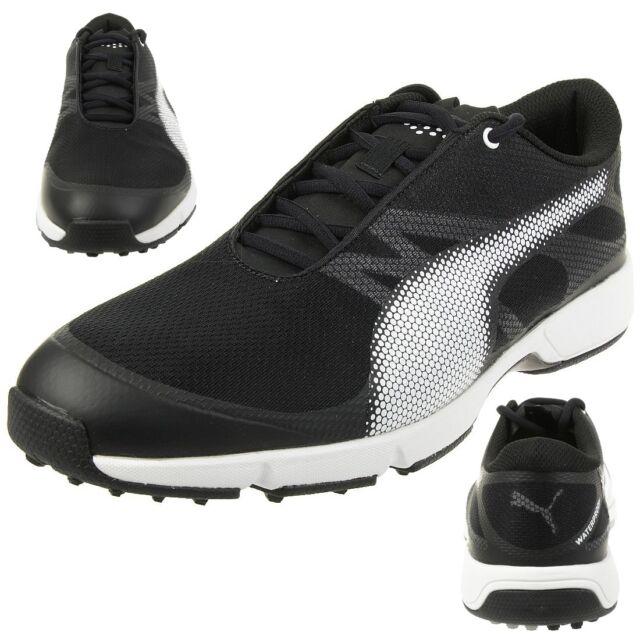 PUMA Mens Ignite Drive Sport Golf Shoes Trainers Black White Grey 46 ... 53c2e5788