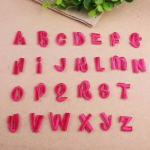 Iron On Patch Pink Alphabet Letter A Z Embroidered Diy Applique
