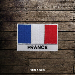 France-National-Flag-With-Name-Embroidered-Iron-On-Sew-On-Patch-Badge