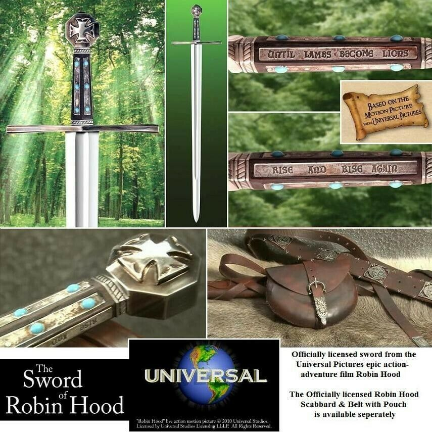The Sword of Robin Hood, Officially Licenced from Universal Pictures by Windlass
