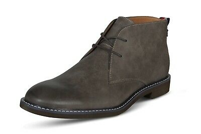 Tommy Hilfiger Gervis2 Men's Boots Leather Lace Up Fashion Shoes Dark Grey