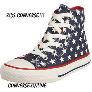 8ae3e19a7308 low price girls high top converse d806f 2dd2a  australia image is loading  kids boys girls converse all star stars high 9cddb 27abc