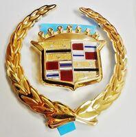 Cadillac Sls 98 99 00 01 24k Gold Plated Grille Emblem