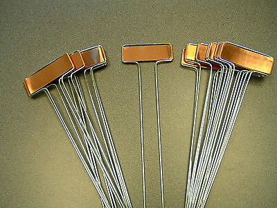"10"" Copper Plant Markers 20 Count Garden Labels  Stakes Metal Tags Nursery USA"