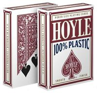 1 Deck Hoyle 100% Plastic Standard Poker Playing Cards Red Brand Deck