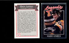 1991 Legends Magazine MARIO LEMIEUX Pittsburgh Penguins Card