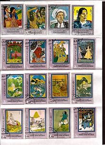 Yemen-16T-Flatback-On-Sheet-Portrait-Gauguin-Art-Indian-And-Chinese-C228