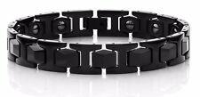 Men's Link TUNGSTEN CARBIDE Bracelet - BLACK IP -  HOT NEW STYLE - SCRATCHPROOF