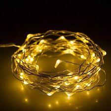 100 LED 10M Copper Wire LED Light Warm White String Fairy Lights AC 110v Powered