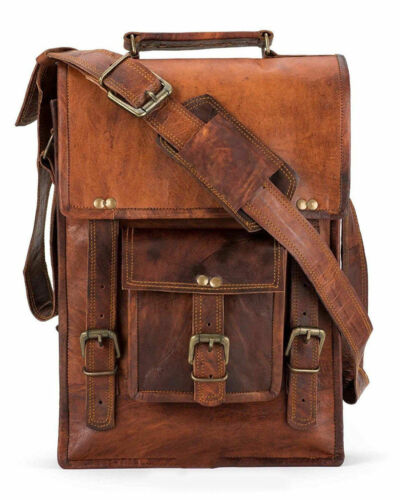 Vintage Men/'s Leather Casual Messenger Bag Cross-body Tote Handbag Shoulder Bag