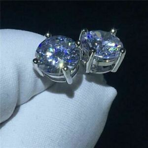 14K-White-Gold-Over-3-Ct-Round-Cut-Moissanite-Push-Back-Solitaire-Stud-Earrings