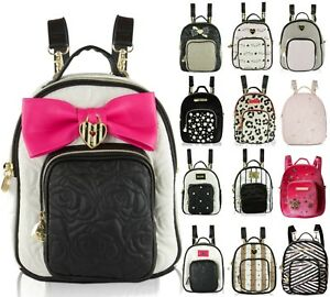 Image Is Loading Betsey Johnson Mini Small Convertible Travel Backpack Purse