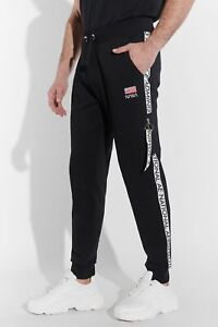 Course Mens Joggers Jogger NASA Logo Tape Side Pocket Sport Casual Fit