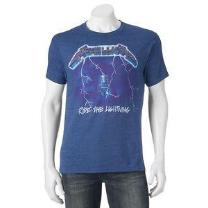 New-Metallica-Ride-The-Lightning-Retro-Men-039-s-Vintage-Classic-T-Shirt