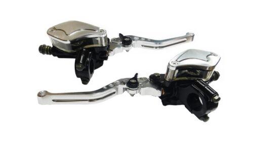 "Universal 7//8/"" Motorcycle Hydraulic Brake Clutch Master Cylinder Reservoir Lever"