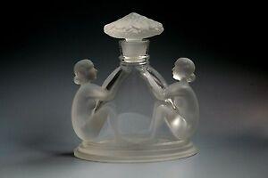 BOHEMIAN-ART-DECO-NUDE-GLASS-PERFUME-BOTTLE