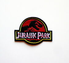 Jurassic Park Movie Logo Embroidered Iron-On Deluxe Patch New Red Applique Patch