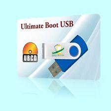 Ultimate RESCUE USB BOOT RESTORE FORMAT DISK HARDDRIVE DIAGNOSTICS ANTI-VIRUS