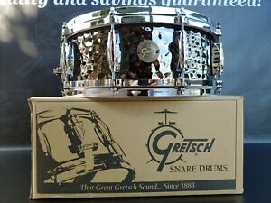 Gretsch-Drums-Hammered-Black-Steel-Snare-Drum-5-034-x-14-034
