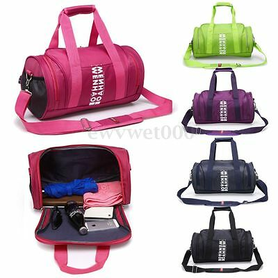 New Women Men Nylon Sports Training Travel Tote Shoulder Bags Gym Bucket Satchel