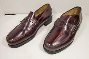 f52c3cce397 GH Bass   Co Penny Loafers Mens Cordovan Leather Slip On Shoes Size ...