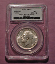 1915 KING GEORGE V HALFCROWN - Graded Choice UNC By CGS