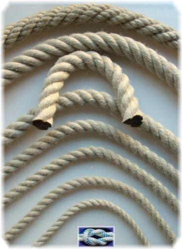 50 Meter Polyhanfseil 10mm Kunsthanf Seil wetterfest Polyhanf Strick Bauseil