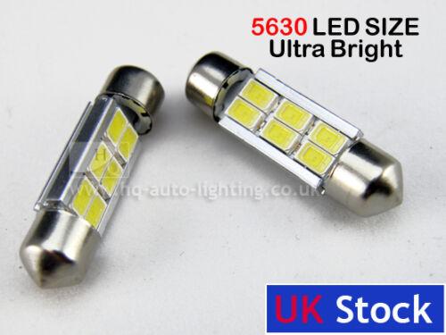 Festoon CAN BUS  36mm C5W ERROR FREE 5630 LED SIZE interior WHITE LED SMD bulbs