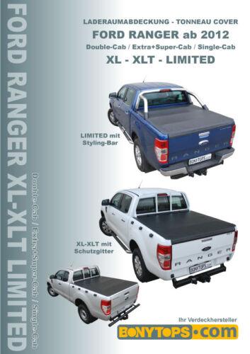 FORD Ranger XLT double-CAB vano di carico copertura Soft//Flexi copertura anno 2012-2013