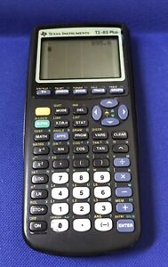 Texas Instruments TI-83 Plus Graphing Calculator Works Great New Batteries