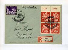 1943 3. rico R-carta 10 años educación VB + día del sello mié 859 (4x), 811