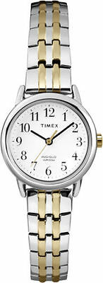 Timex T2P298, Women's 2-Tone Expansion Band Watch, Indiglo,  T2P2989J