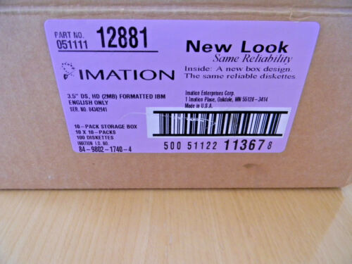"""10 Imation 2HD IBM Formatted 3.5/"""" 1.44 MB Floppy Disks"""