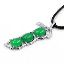 Green Jade Happy Lucky Bean Pendant Jewelry