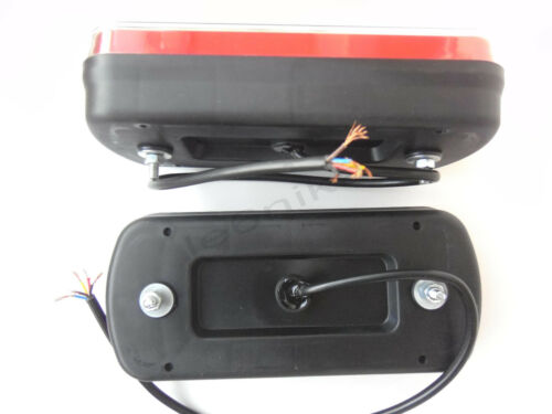 2x 12V//24V NEON Glow-track Halo LED Rear Tail Lamp Light Truck Lorry Trailer HGV