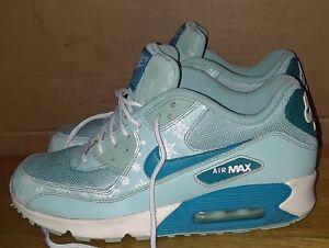 Nike Air Max 90 MESH GS Blue Snowflake 724875 400 Womens