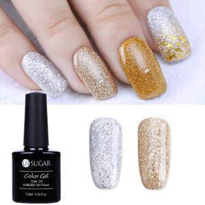 2pcs-set-Champagne-Silver-UV-Gel-Nail-Polish-Sequins-Soak-Off-Gel-Manicure-7-5ml