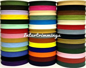 COTTON-BIAS-BINDING-TAPE-FOLDED-37-X-25MM-1-INCH-CHOOSE-COLOUR-amp-LENGTH